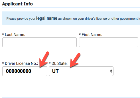 change name drivers license utah