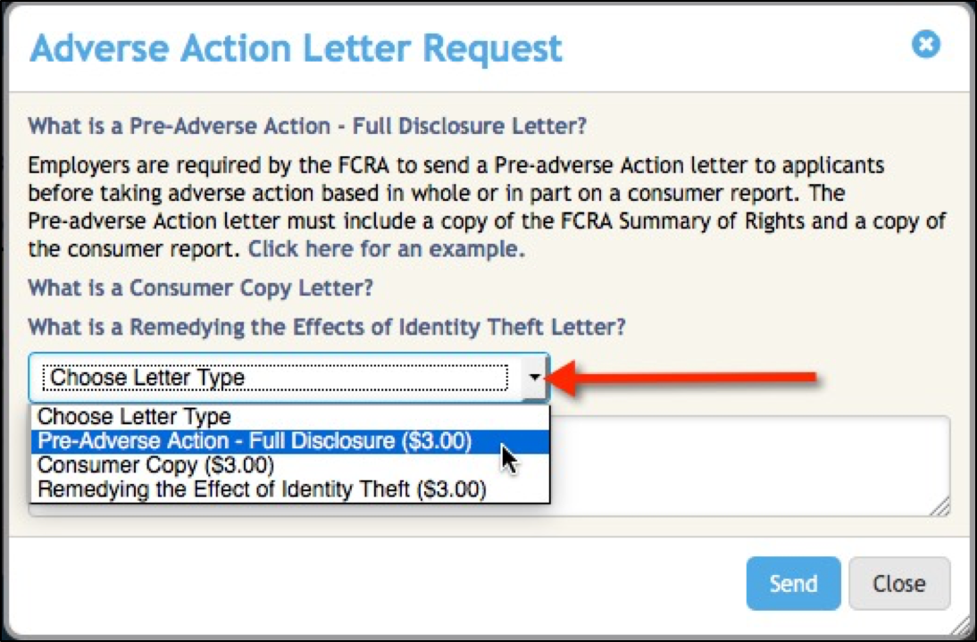 How to order Pre Adverse and Adverse Action letters – ProScreening